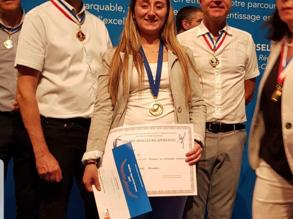 Marie Fernandez meilleure apprentie de France